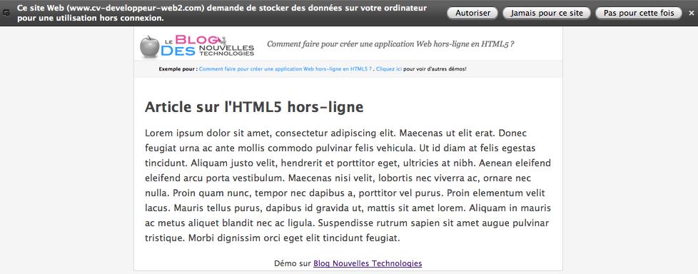 Comment faire pour créer une application Web hors-ligne en HTML5 ?