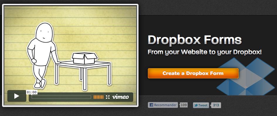 Créez des formulaires Web avec l'aide de Dropbox Forms - JotForm + Dropbox