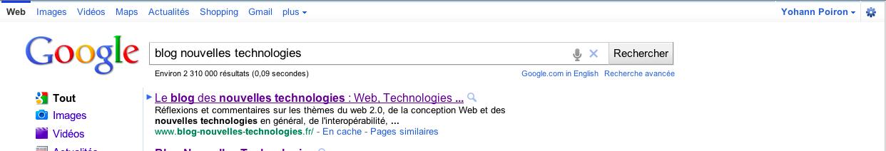 Google expérimente la recherche vocale sur Google.com - Résultats de la recherche vocale