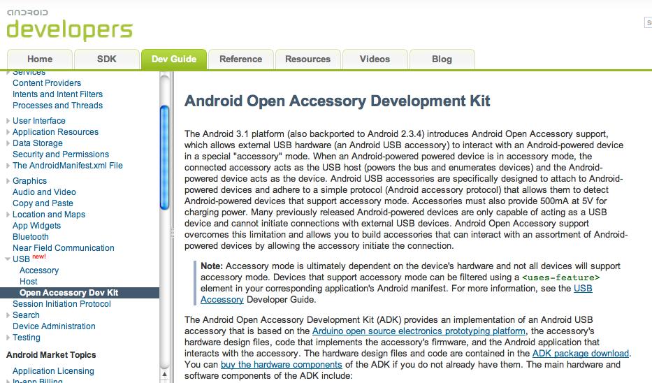 Google I/O : Ce qu'il faut savoir de la première journée - Android Open Accessory API