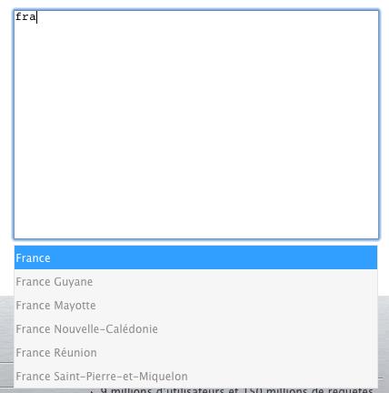 Implémentez la saisie semi-automatique (autocomplete) d'un textarea à l'aide de jQuery - Autocomplete 'outter'