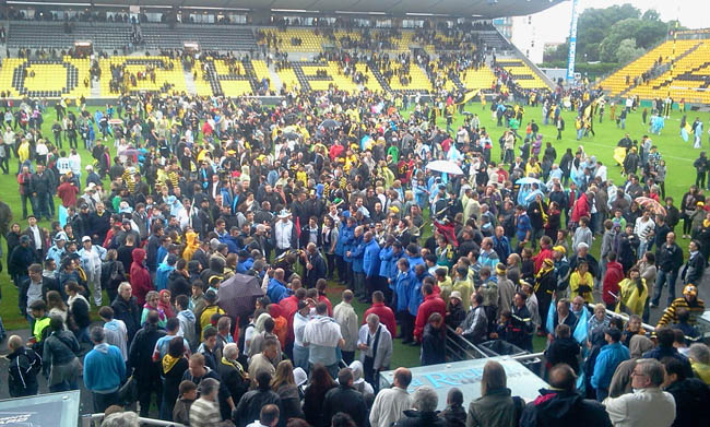 Mon retour sur le livetweet Orange de la dernière journée de Top 14 : Stade Rochelais - Bayonne  - Tour d'honneur