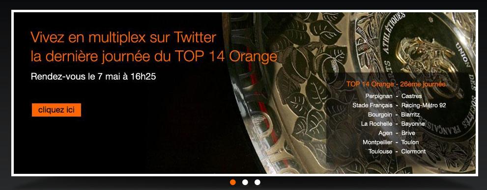 Un livetweet Orange pour la dernière journée de Top 14 ! #rugby - ensembleaveclexv