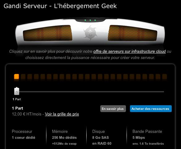Anniversaire J5 - Un hébergement Geek offert par Gandi - Offre Gandi
