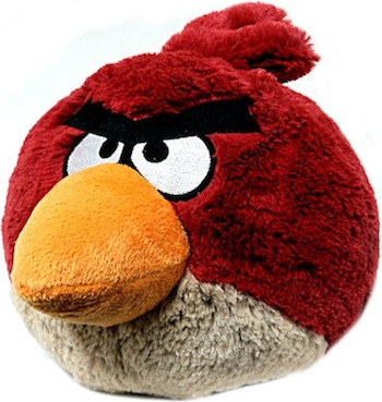 Anniversaire J7 - Une peluche Angry Birds et un Kdo Geek offerts par Gadgetorama et Kdo-USB - Peluche Rouge Angry Birds