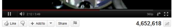 Google affiche en noire sa barre de navigation - Lecteur Youtube noir