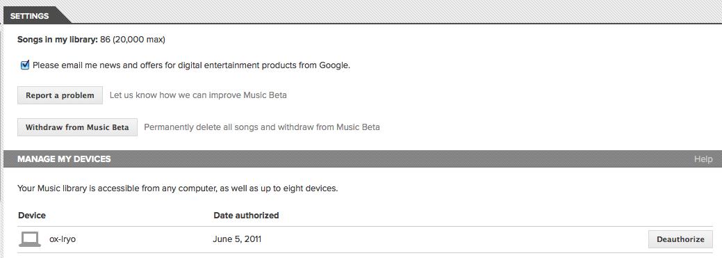 J'expérimente Google Music ! - Paramètres de Google Music