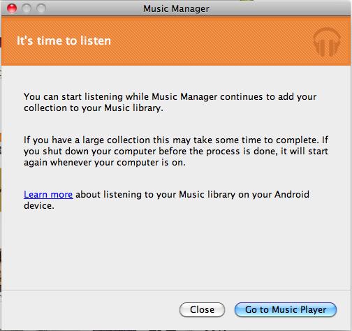 J'expérimente Google Music ! - Gestionnaire paramétré