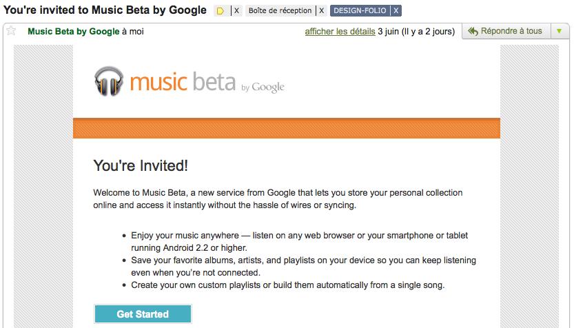 J'expérimente Google Music ! - Lancement de Google Music