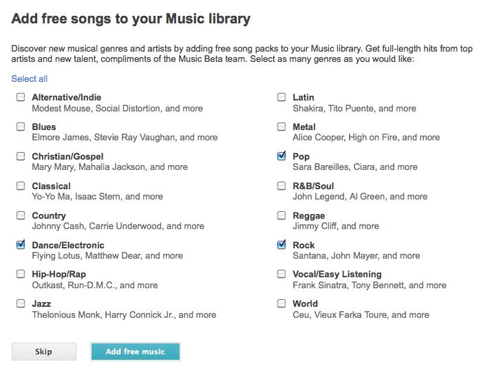 J'expérimente Google Music ! - Choix des musiques gratuites