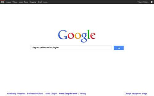 La page d'accueil de Google ainsi que celle de Facebook change ! - Nouvelle page d'accueil Google