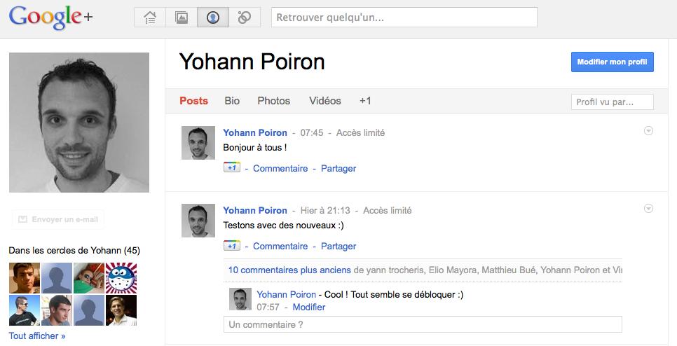 Les invitations à Google+ sont lancées