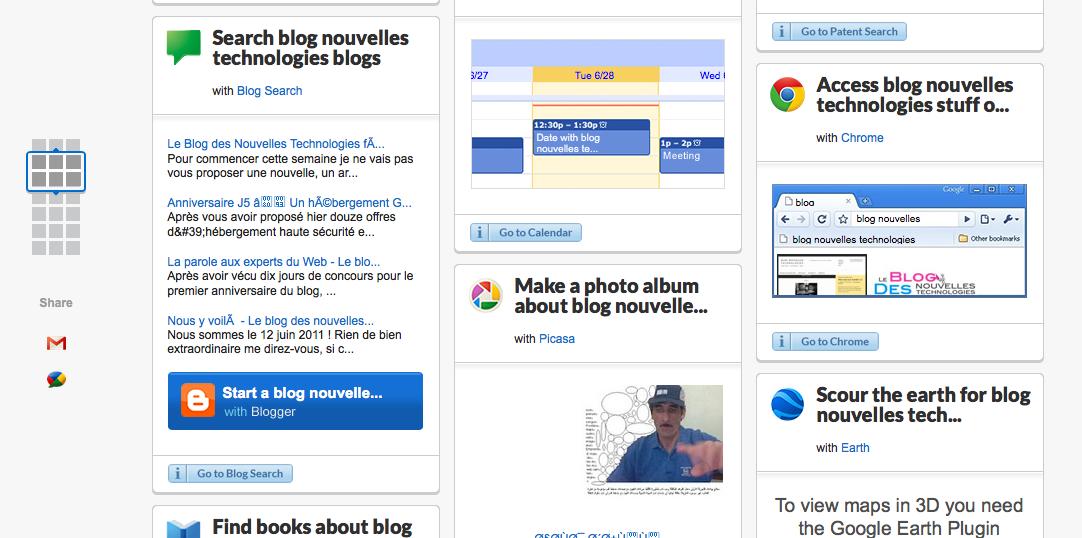 WDYL.com un nouveau service par Google : What Do You Love ? - Recherche de blog nouvelles technologies sur WDYL