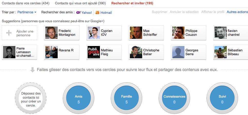 Débuter avec Google+, voici votre guide complet - Ajout de Contacts Google+