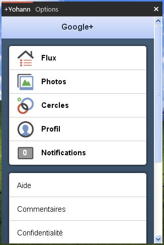 Gclient : Le premier client desktop de Windows pour Google+ - Accueil