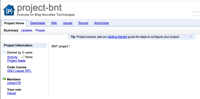 Google Code annonce son support à Git - Page d'accueil Google Code
