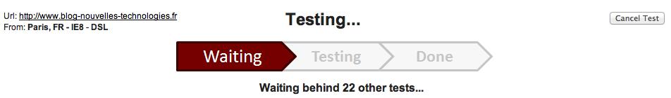 Google lance Page Speed Service, voilà de quoi optimiser votre site Web ! - Démarrage de Page Speed Service - Attente