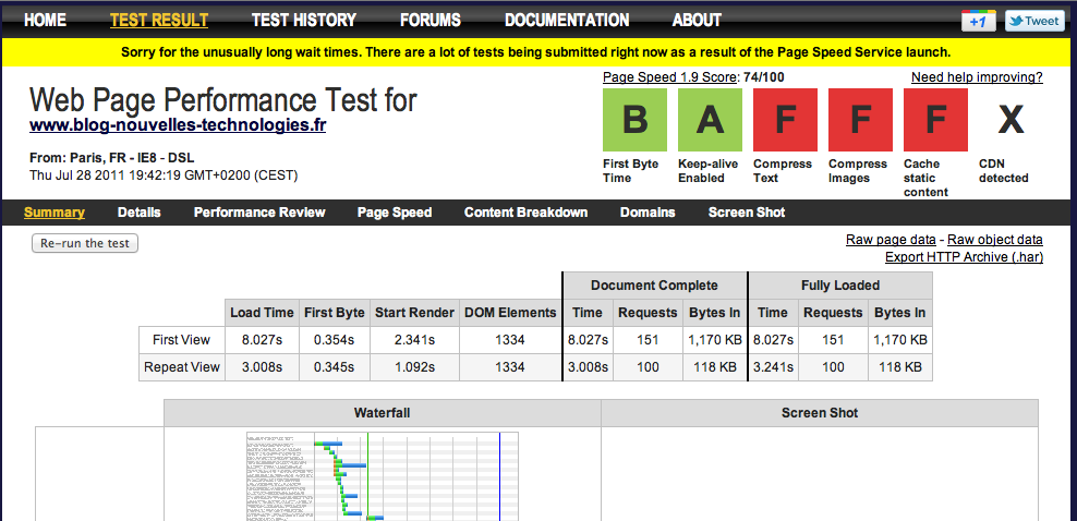 Google lance Page Speed Service, voilà de quoi optimiser votre site Web ! - Résultats de la page optimisée