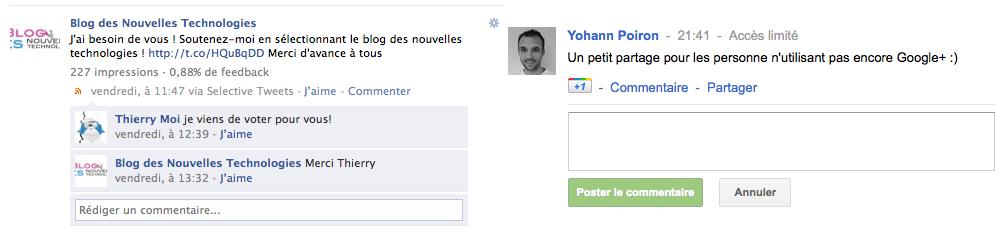 Google+ vs. Facebook : Quel réseau social va gagner ? -  Commentaires Facebook et Google+