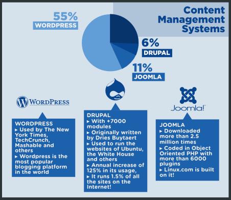 Infographie : Et si l'Open Source venait envahir le Web ? - CMS