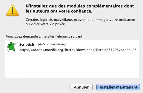 Redonner la couleur blanche à la barre de navigation de Google - Installation Scriptish Firefox