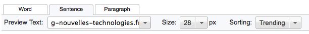 Utiliser Google Web Fonts sur votre ordinateur ou votre site Web - Modification taille du texte