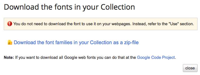 Utiliser Google Web Fonts sur votre ordinateur ou votre site Web - Téléchargement des polices