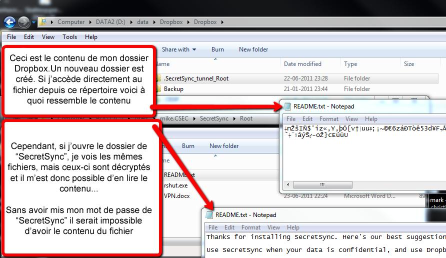 Utiliser SecretSync afin de protéger vos fichiers sensibles sur Dropbox - Cryptage des données dans SecretSync