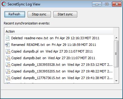 Utiliser SecretSync afin de protéger vos fichiers sensibles sur Dropbox - Log dans SecretSync