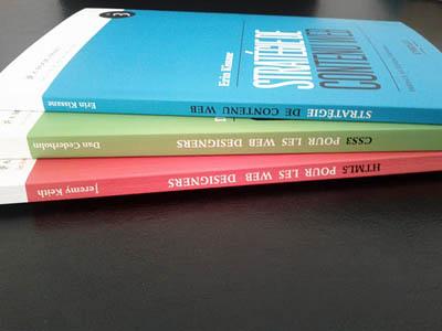 A Book Apart 1, 2 et 3 : HTML5 et CSS3 pour les Web Designers et Stratégie de Contenu Web