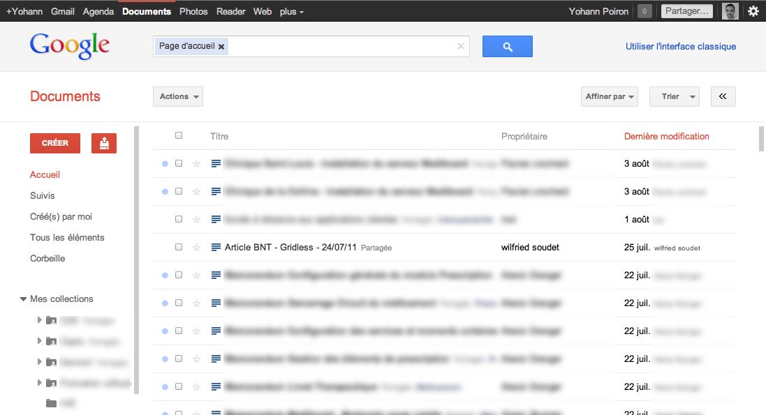 Au tour de Google Docs d'adopter la nouvelle interface de Google - Aperçu de la nouvelles interface de Google Docs