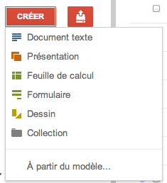 Au tour de Google Docs d'adopter la nouvelle interface de Google - Bouton Créer