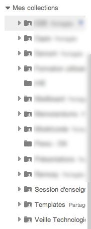 Au tour de Google Docs d'adopter la nouvelle interface de Google - Liste des collections