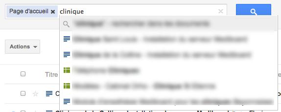 Au tour de Google Docs d'adopter la nouvelle interface de Google - Tooltip sur la recherche