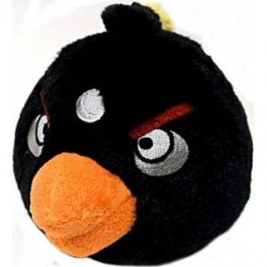 Concours : Gagner une peluche et 4 tasses Angry Birds offerts par Gadgetorama - Peluche noire Angry Birds