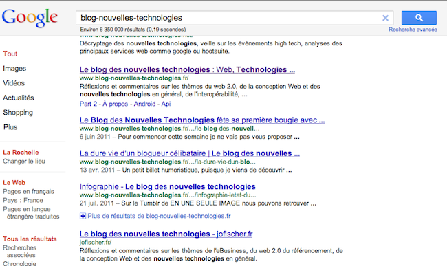 Google teste une interface épurée avec une nouvelle prévisualisation des sites - Barre de navigation et recherche fixe