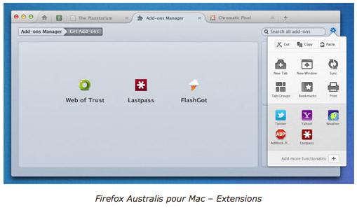 Firefox 8 : Nouvelle interface utilisateur du navigateur