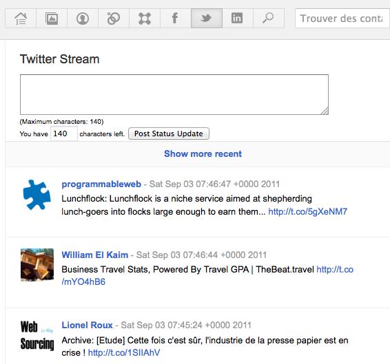 Ajoutez Facebook, Twitter et Linkedin dans la barre de menu de Google+ ! - Flux Twitter dans Google+