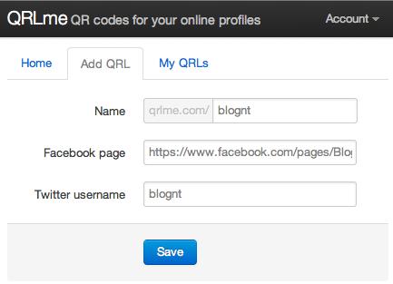 Créer le QRCode de votre profil des réseaux sociaux à l'aide de QRLme - Ajout des informations sur le QRL