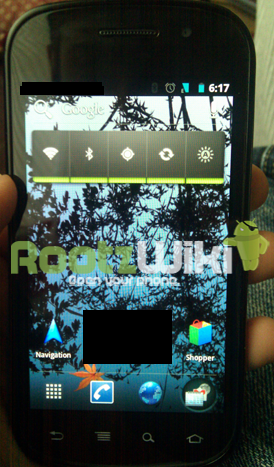 Accueil d'Android Ice Cream Sandwich