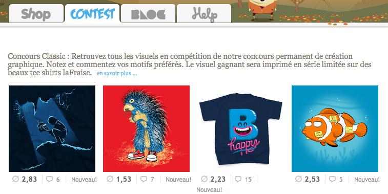 Concours : laFraise s'associe au BlogNT pour vous offrir des tee-shirts ! - Boutique laFraise
