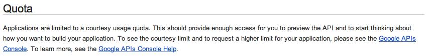 L'API Google+ est enfin disponible !!! - Limites
