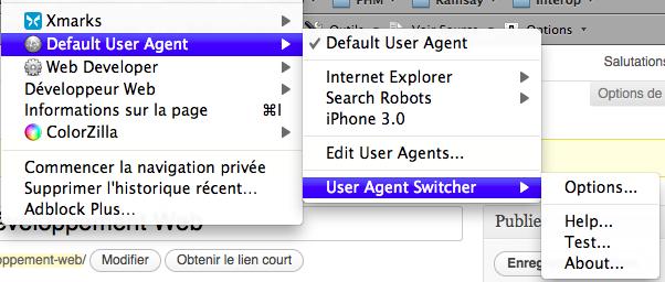 Pourquoi Google Chrome n'est pas adapté au développement Web ? - User Agent Switcher