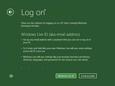Windows 8 : Mes premières impressions sur IE10 - Compte Live ID