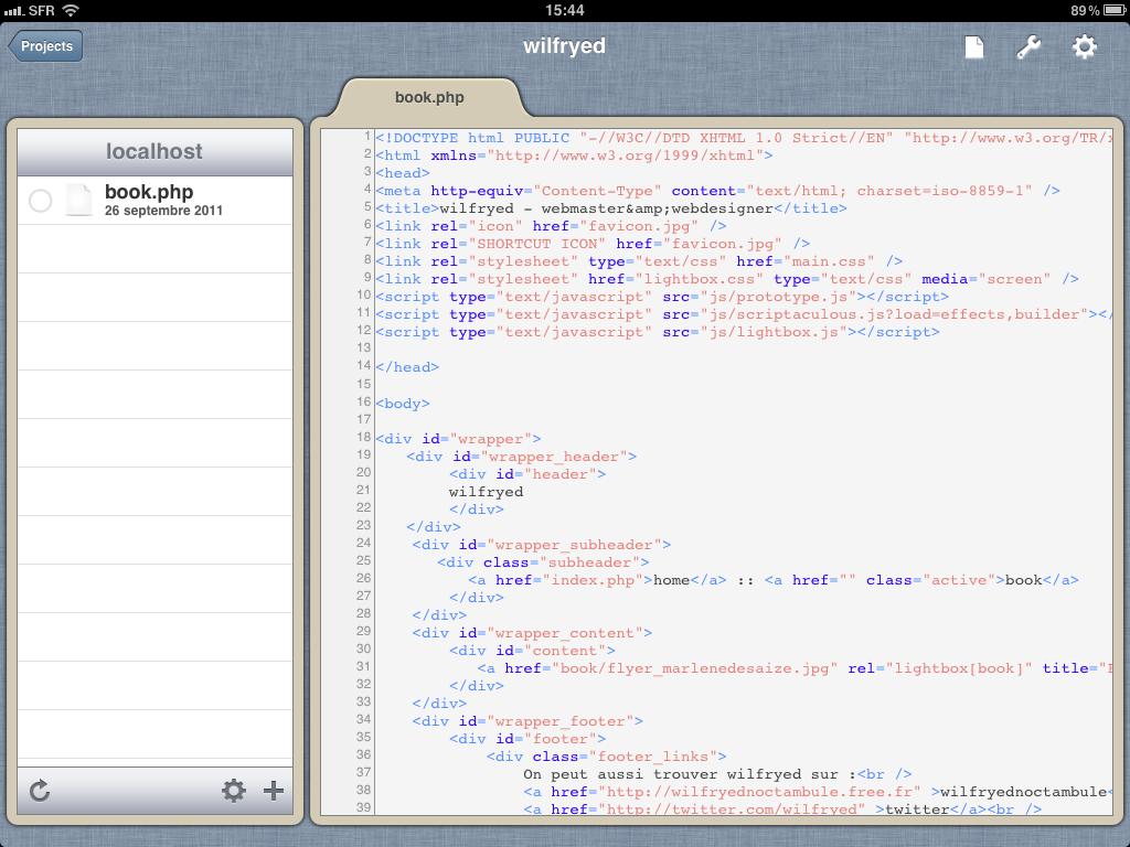 Administrer, éditer et développer ses sites depuis l'iPad - Gusto - Édition fichier