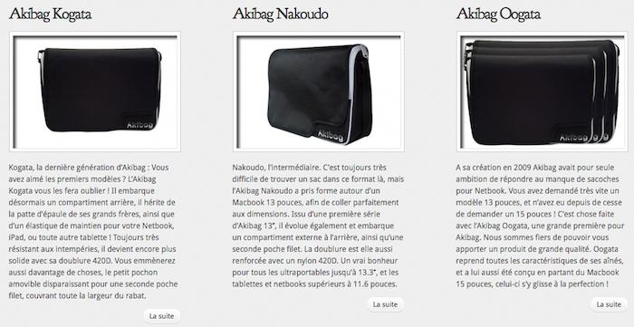 C'est au tour de Mr Akibag de vider son Akibag ! - Nouveaux modèles Akibag