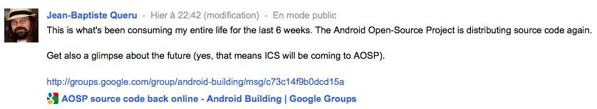 Google confirme que Ice Cream Sandwich sera Open Source !