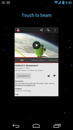 Google dévoile Android 4.0, et Samsung le Nexus Galaxy ! - Android Beam
