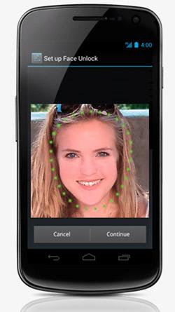Google dévoile Android 4.0, et Samsung le Nexus Galaxy ! - Reconnaissance faciale