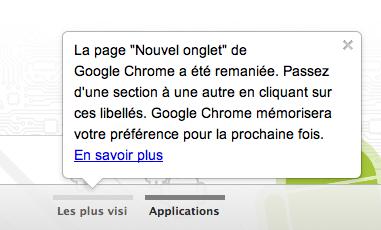 Google modifie son Store et redessine sa page d'accueil des onglets - Onglets Sites et Applications